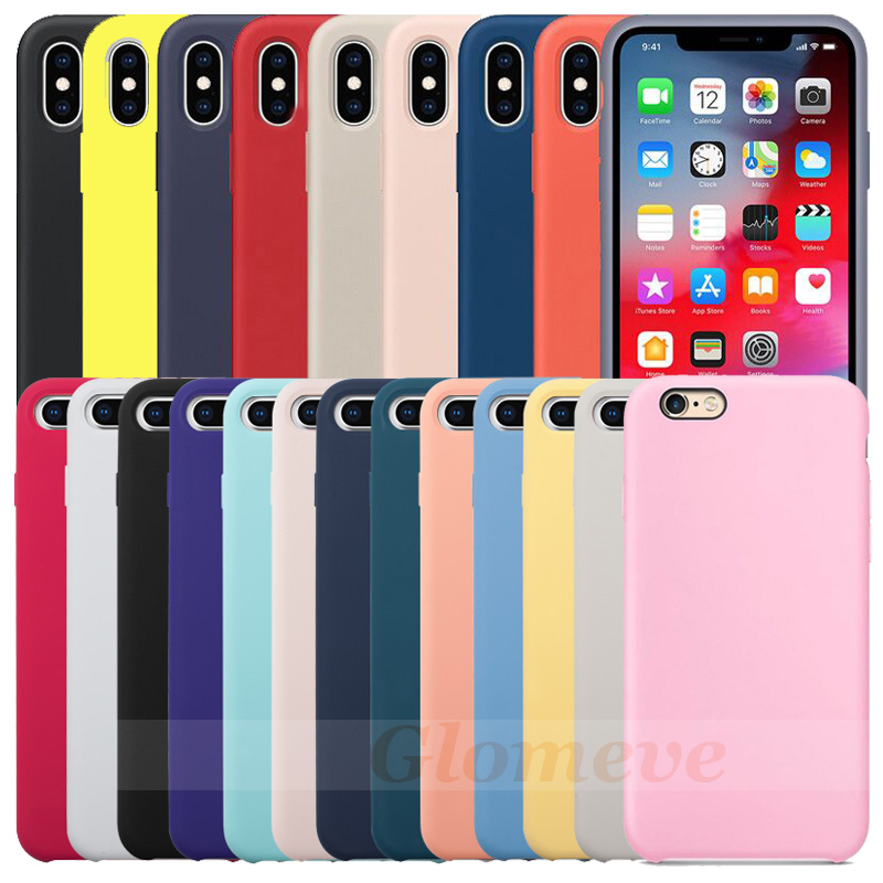 buy popular 73919 78823 Have LOGO Original Silicone Case For iPhone 7 8 Phone Case For iPhone X XR  XS Max Official Cover For iPhone 6 6S Plus 5 5S Capa