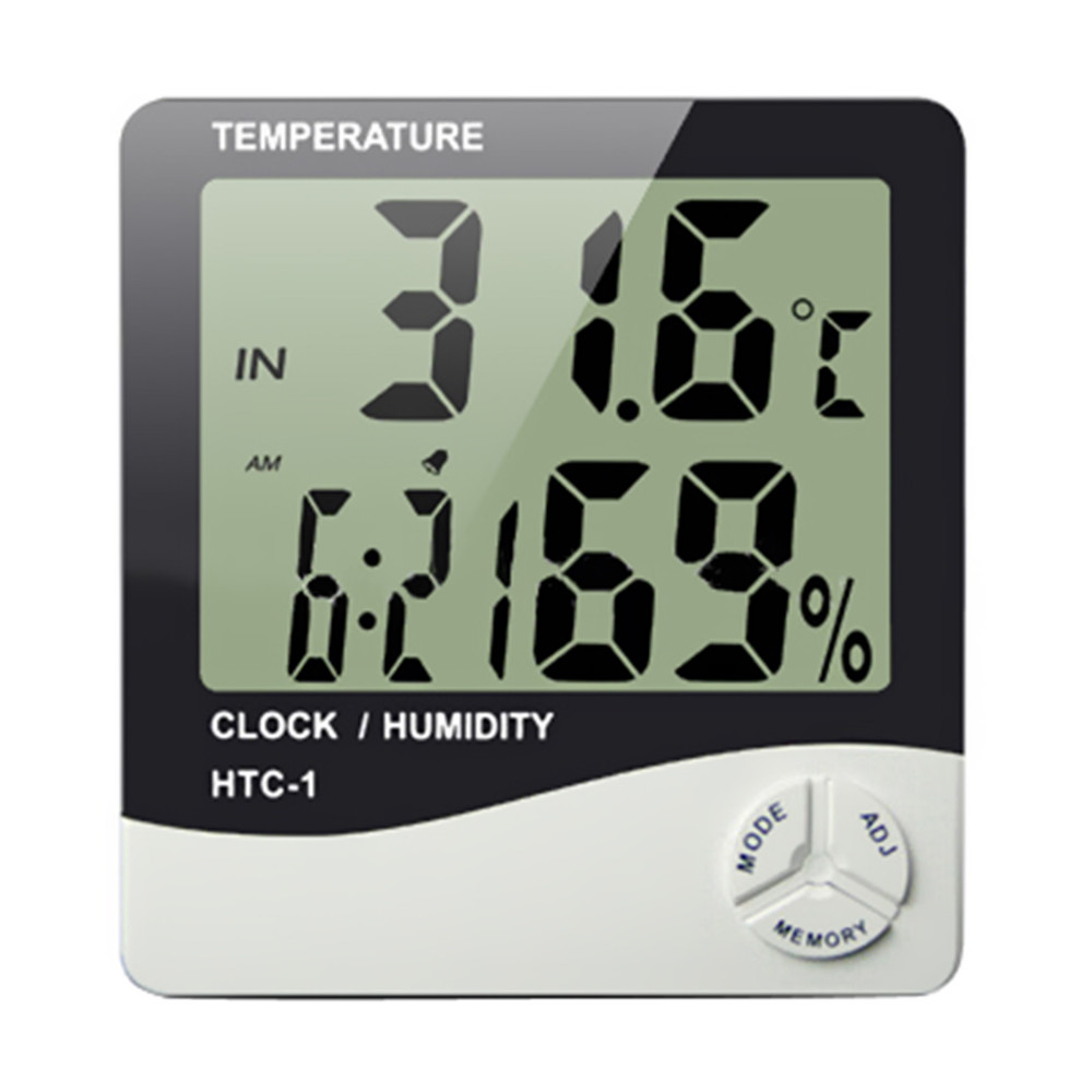 Indoor high accuracy lcd screen digital thermometer temperature indoor high accuracy lcd screen digital thermometer temperature humidity meter desk alarm clock wall mount weather station in desk table clocks from home amipublicfo Image collections