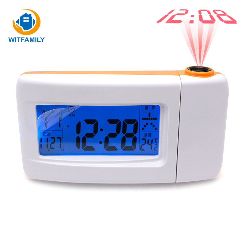 Mute Big Screen Electronic Clock Children Perpetual Voices Voice Projection Student Lazy Alarm Clock Desktop Alarm Clock