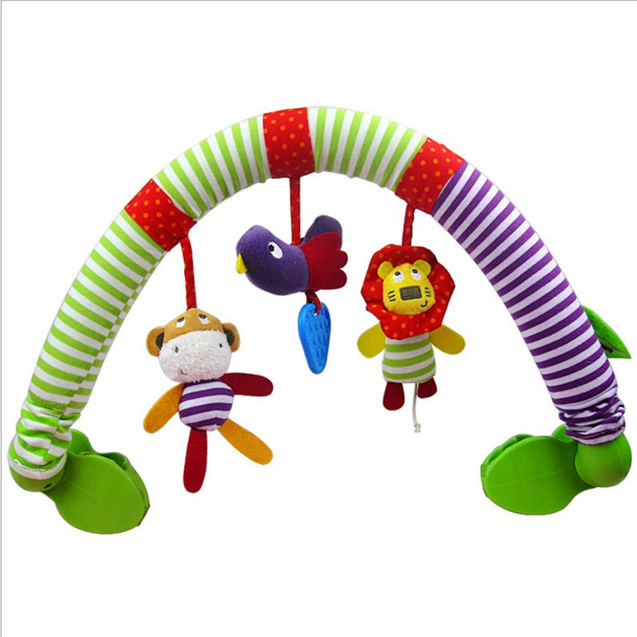 Baby Stroller Toy Clips Infant Strollers Car Clip Seats Folder Child Rocking Chair Toys Hanging Music Kids Toy Clips Accessories