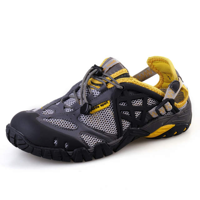 1b5ab653a9a Online Shop 2019 Men Outdoor Sneakers Breathable Hiking Shoes Big Size Men  Women Outdoor Hiking Sandals Men Trekking Trail Water Sandals