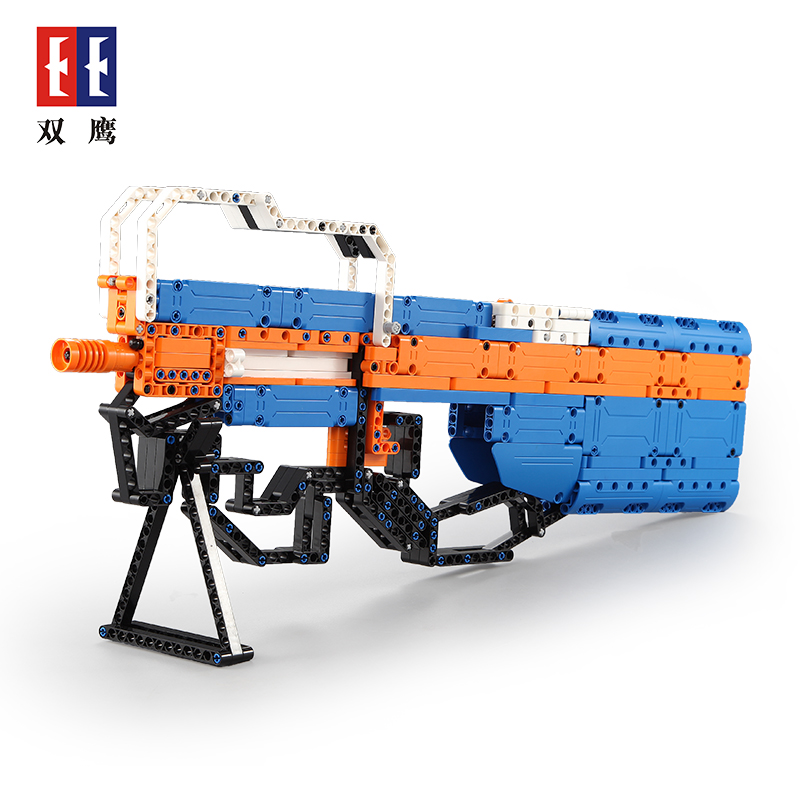 Submachine Gun Weapon Soft Bullet Bursts Gun Funny Outdoors Toys For Kid nerf toy gun building blocks brick Military Gun Model kazi 228pcs military ship model building blocks kids toys imitation gun weapon equipment technic designer toys for kid