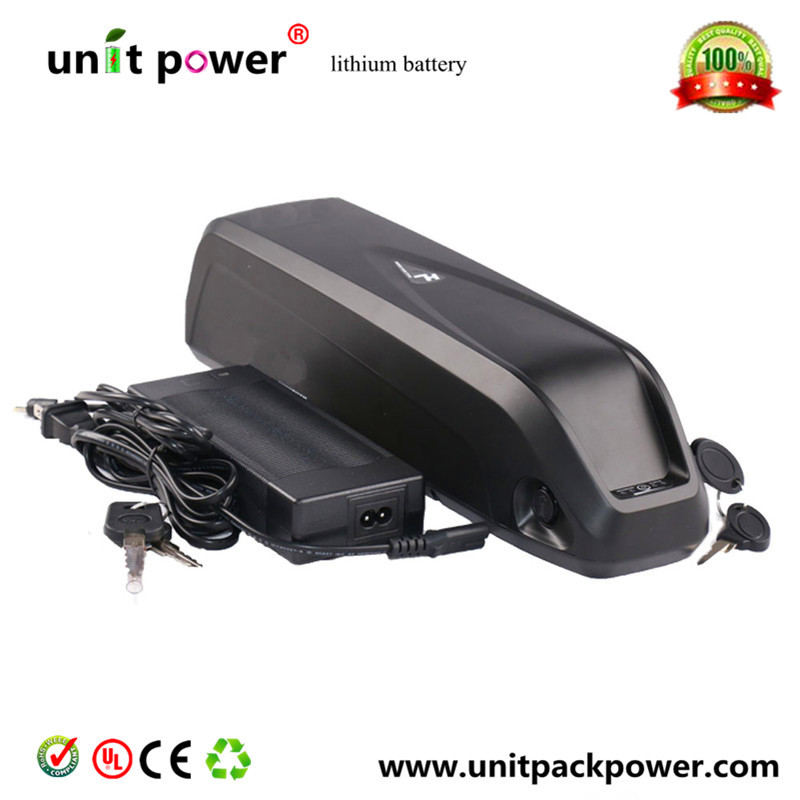 Electric bike down tube battery 48V 13.6Ah Lithium ion akku with NCR18650B cells battery pack for 48v 750w ebike motor
