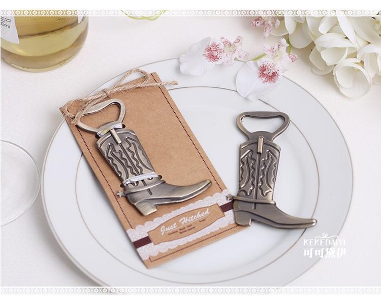 2016 New 1000pcs/lot Wedding Favor Cowboy Boot Bottle Opener Bridal Shower Favor Gifts Guest Souvenirs Keepsake Present