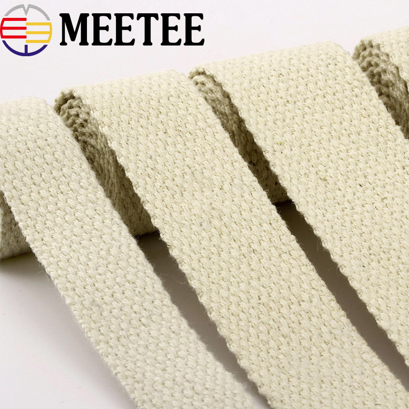 Backpack Strap Cotton Webbings High Tenacity Belt Bag Lable Ribbon Sewing Tape Bias Binding Clothing Accessories DIY Crafts