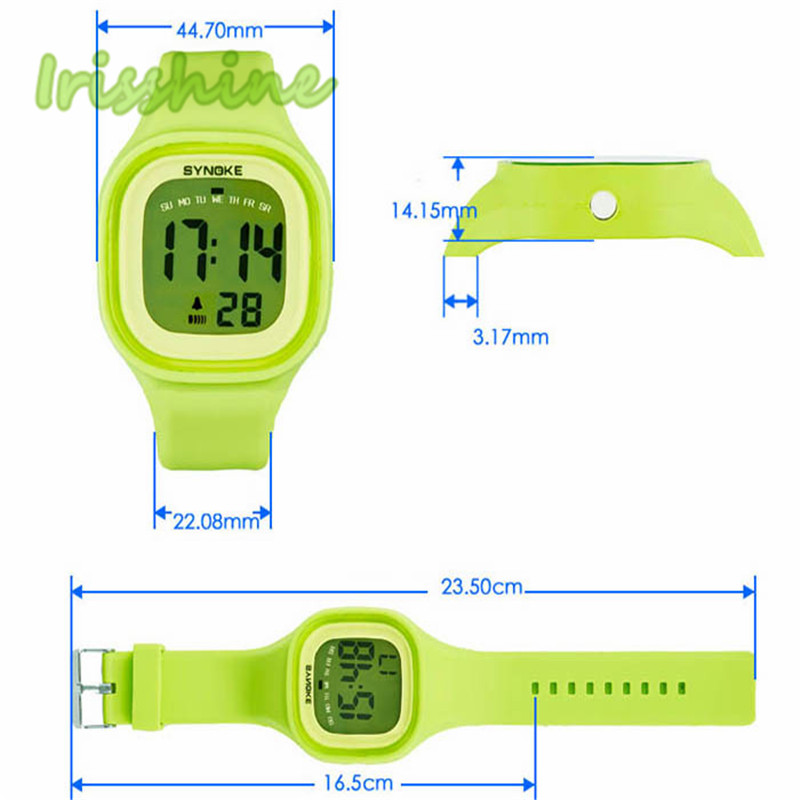 Irisshine I0325 Unisex Watches Silicone LED Light Digital Sport Wrist Watch Kid Women Girl Men Boy Gift A15