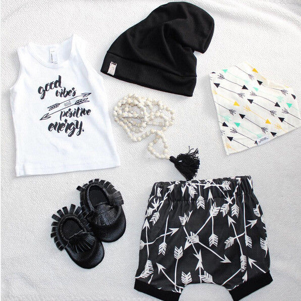 Fashion Baby Boy Clothes Newborn Kids Baby Boys Outfits Set Letters Print T-shirt Tops+Shorts Summer Arrow Clothes Set