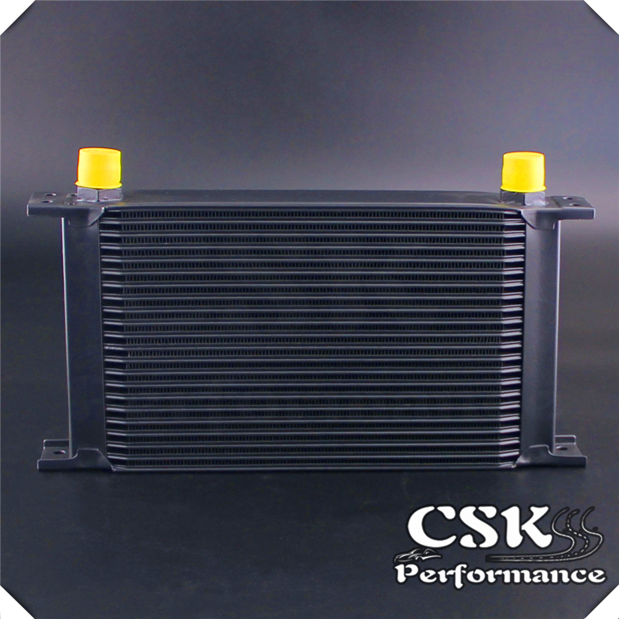 Universal 22 Row AN10 Engine Transmission 248mm Oil Cooler Black/silver|Oil Coolers| |  - title=