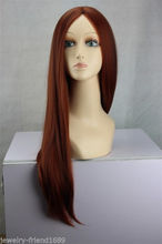 Wholesale heat resistant LY free shipping New Cosplay Long Copper Red Brown Mix lady s Sexy