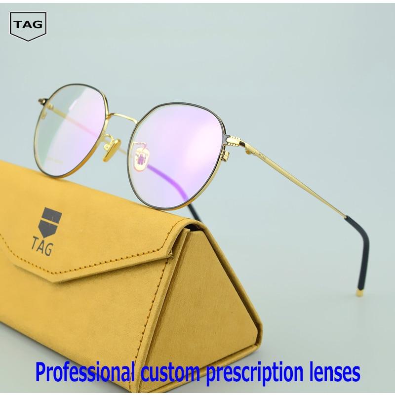 eyeglasses Retro TAG Brand new fmetal glasses frame men women Spectacles Computer myopia Nerd oculos de