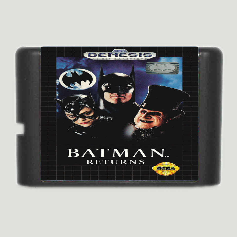 Batman Returns 16 bit MD Game Card For Sega Mega Drive For Genesis