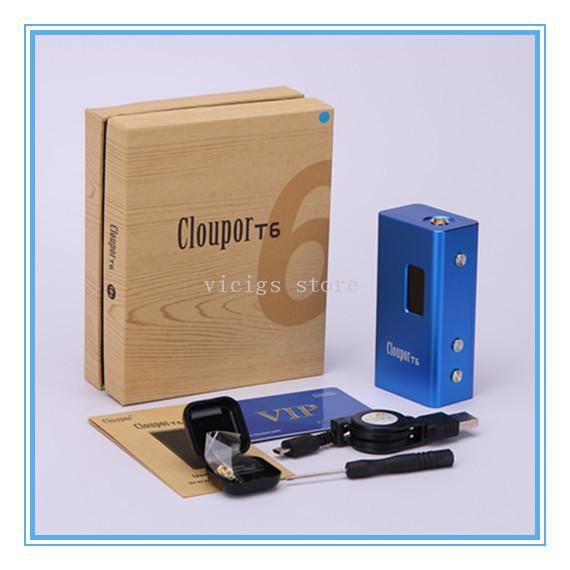 Nueva original mecánica mod 100 w caja mod cloupor cloupor t6 t6 con distintas tensiones por sólo 26650 batería