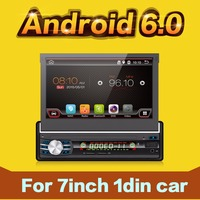 Single 1 Din Android 6 0 Quad Core Universal Car DVD Player GPS Wifi