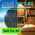 Взрослый 1.61 Freeform Индекс Фотохромные Переход Прогрессивные Мультифокальные Дополнение Оптический Рецепт Объектив Очки 7 Покрытие