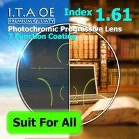 Adult 1 61 Index Photochromic Transition Progressive Addition Multifocal Optical Prescription Lens Glasses Eyewear Anti Scratch