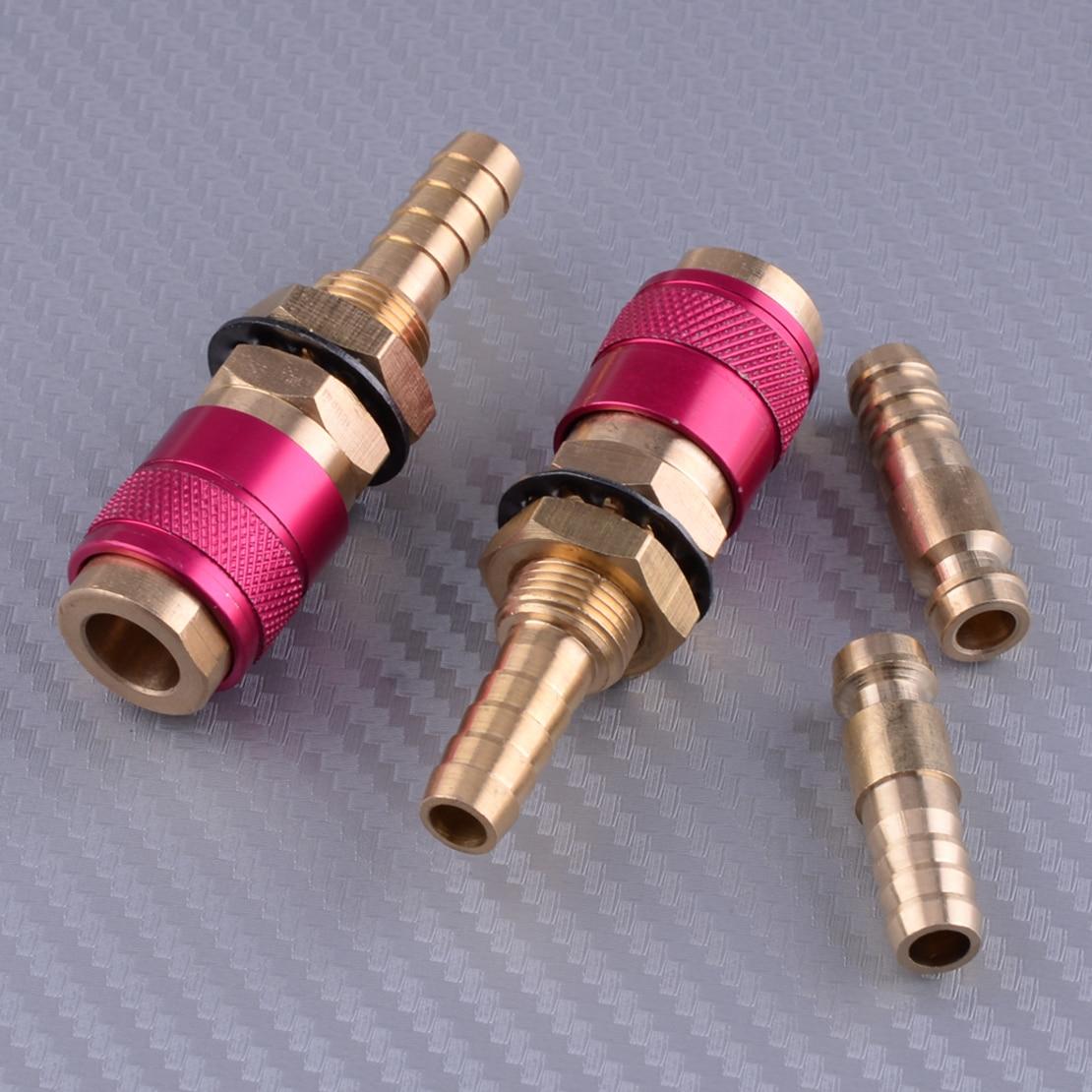 LETAOSK 2 stücke M8 Rot Wig-schweißbrenner Wasser Gekühlt & Gas Adapter Schnell Anschluss Fitting Tool