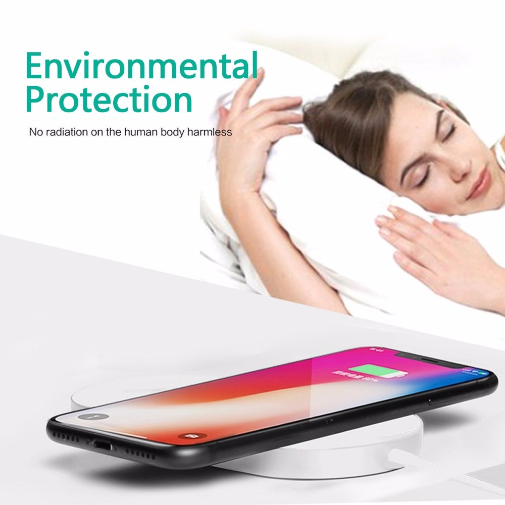 New Portable 2 in 1 Qi Standard Wireless Charger for iPhone X 8 Plus Apple Watch 3 Cordless Powerful Wireless Charging Pad Plate 13