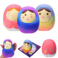 Cute Licensed Collection Squishies Jumbo Doll Tumbler Slow Rising Squeeze Fun Presure Stress Release Kids Toys