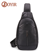 JOYIR Genuine Leather Men's Messenger Bag New Design Fashion Male Shoulder Crossbody Bag High Quality Leather Chest Bag For Man