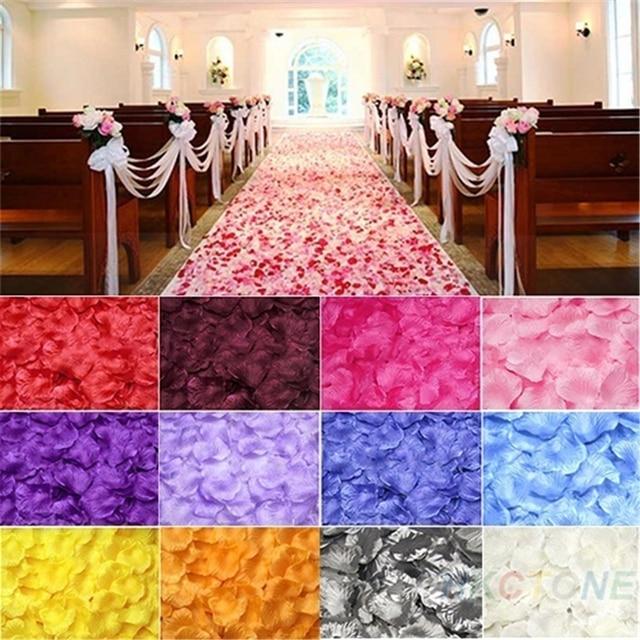 500 pc Silk Rose Flores Artificiais Noiva Para Ser Decoração de Casamento Pétalas de Flores Tabela Bachelorette Party Decoration Mariage, B