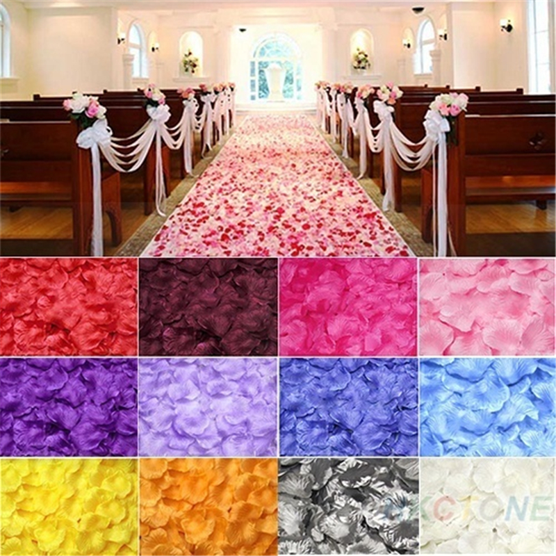 500pc Silk Rose Artificial Flowers Bride To Be Wedding Decoration Petals Table Flowers Bachelorette Party Decoration Mariage,B