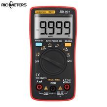 RICHMETERS RM111 NCV True-RMS Digital Multimeter Auto Range 9999 counts Temperature Back light AC/DC Voltage Ammeter