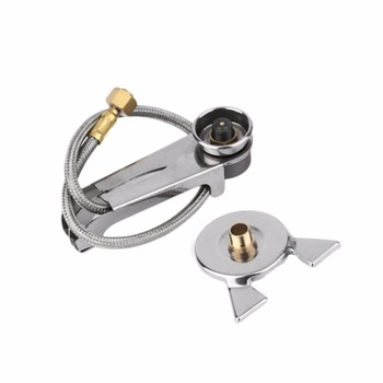 1 Set Picnic Camping Stove Split Converter Connector Gas Tank Adapter InCldue Box Hot sale Well Sell Drop Shipping brs outdoor high strength energy warehouse polycarbonate picnic camping travel power gas tank unit bin hot sale accessory