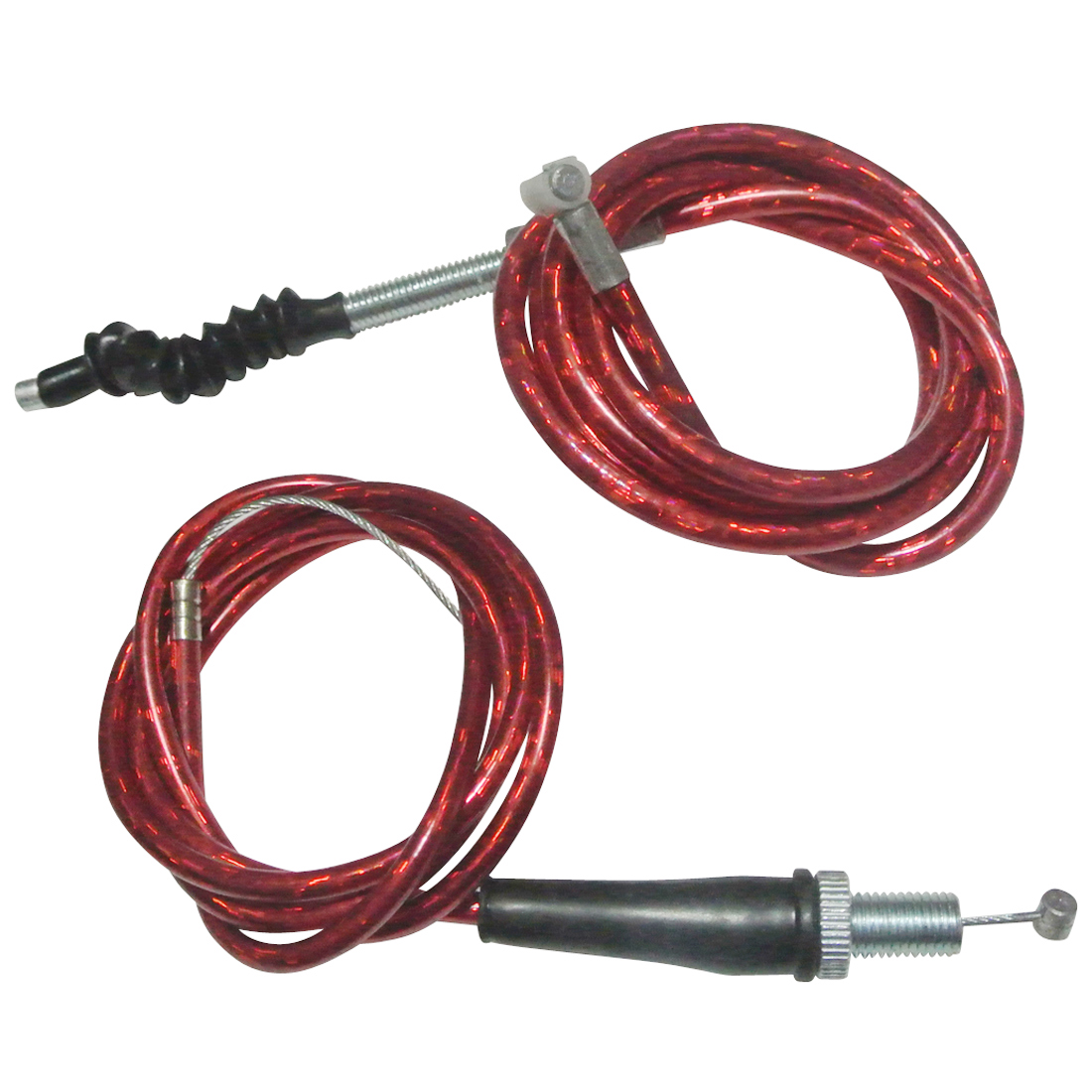 Pit Dirt Bikes Red Twist Throttle Clutch Cable For 50cc-<font><b>160cc</b></font> <font><b>Engine</b></font> Motocross image