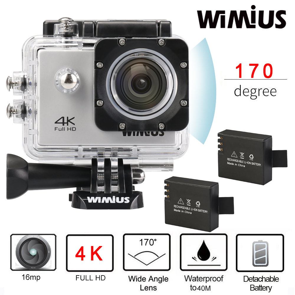 Wimius 4k Wifi Action Camera 20lcd Full Hd 1080p 60fps Helmet Sports Mini Dv 170d Lens 40m Waterproof Diving Camara Deportiva In Video
