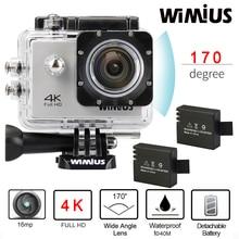 Wimius 4K Wifi Action Camera 2.0″LCD Full HD 1080P 60fps Helmet Sports Mini DV 170D Lens 40M Waterproof Diving Camara Deportiva