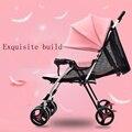 Детская коляска ребенка ультра-легкий портативный легкий складной малый малолитражного автомобиля bb четыре колеса автомобиля зонтик