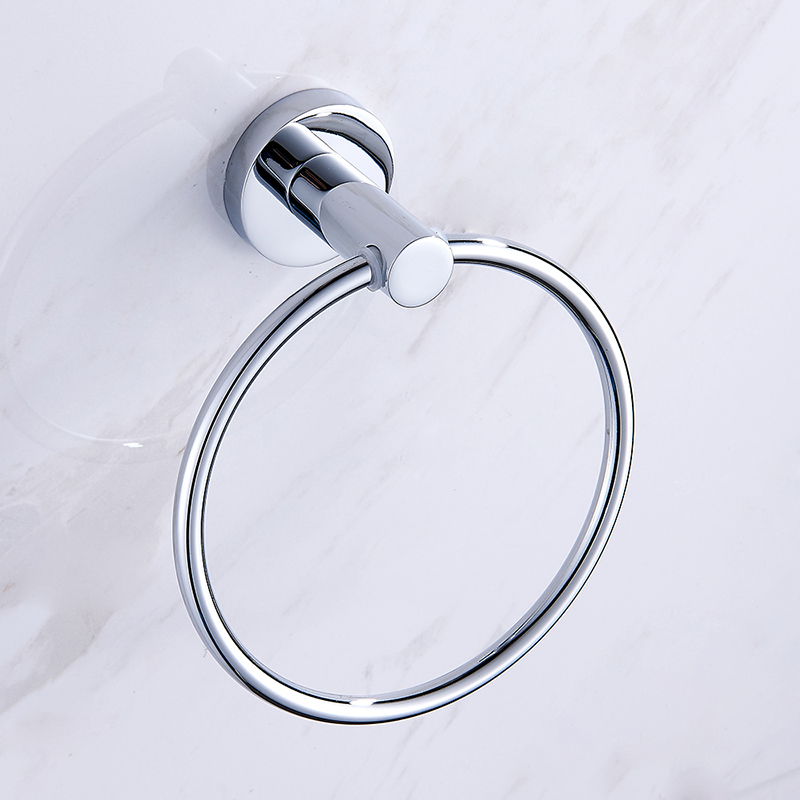 SmileMonkey Wall-Mounted Round  Towel ring Bathroom hand towel holder for Accessories