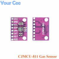 Gas Sensor Carbon Dioxide Detection Sensor Module CCS811 CO2 eCO2 TVOC Air Quality Detecting I2C Output CJMCU-811 Electronic DIY
