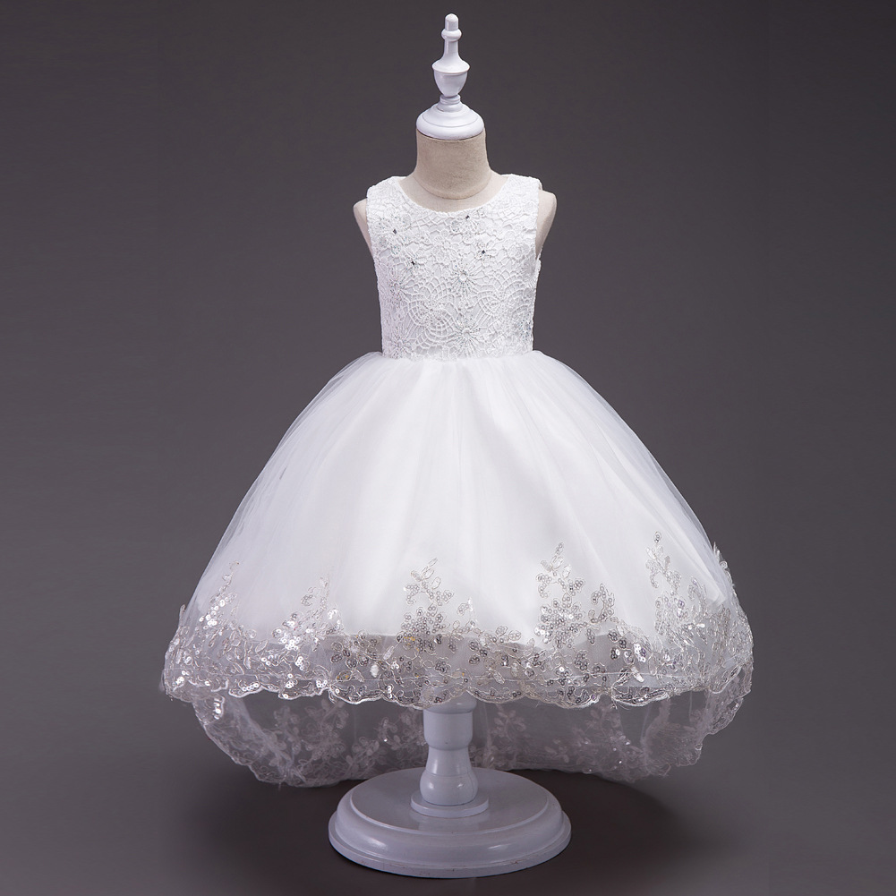 Girls Dress White Pink Red Mesh Trailing Butterfly Girls Bridesmaid Wedding Dress Kids Ball Gown Embroidered Bow Party Dress girls princess dress for party and wedding bridesmaid red mesh trailing lace dress kids ball gown embroidered bow dress clothing
