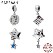Sambaah Dangle Wishing Fireworks Pendant 925 Sterling Silver Wish Upon a Star Charm Beads fit Original Pandora Women Bracelet darlene gardner wish upon a christmas star