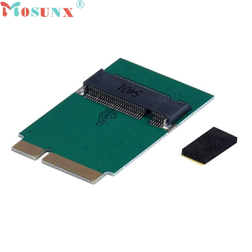 mosunx Mecall Adapter Card To 64G 128G 256G 512G M.2 NGFF SSD For MacBook Air 2012 telit ln930 dw5810e m 2 twh3n ngff 4g lte dc hspa wwan wireless network card for venue 11