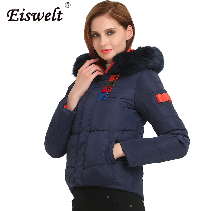 Winter Jacket Women Winter Coat Hooded Short Outwear Thicken Down Parkas Slim Fashion Women Autumn Fur Outerwear & Coats Wc34 2016 winter jacket women down coat fur hooded vest down coats vest pant underwear women s suit thicken set outerwear trousers