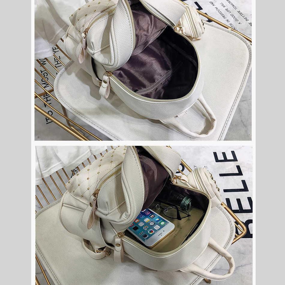 DCOS レトロレディ Pu レザースモールバッグ女性のための十代の女性のバックパックバッグ