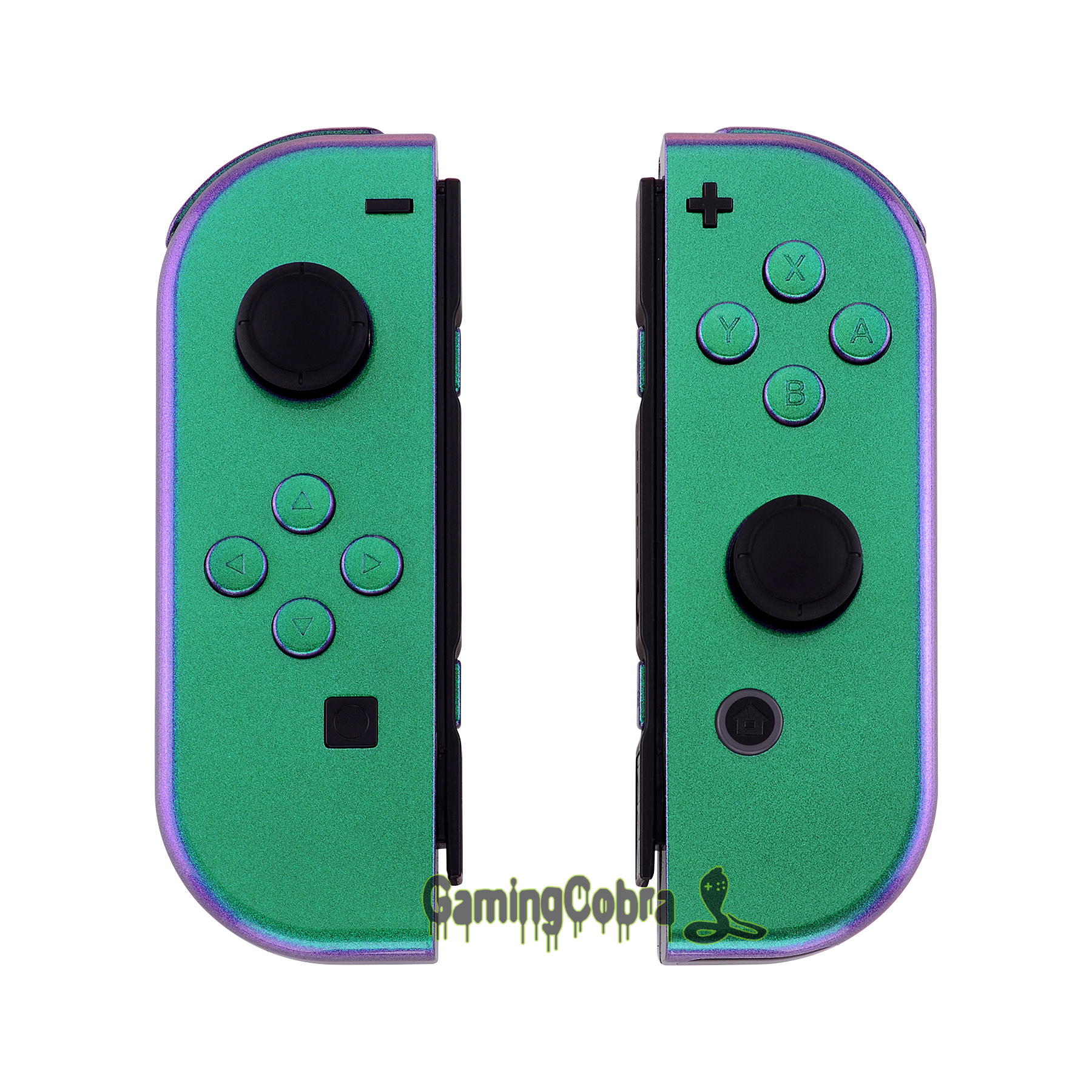 Chameleon Green Purple Joycon Handheld Controller Housing Shell With Full Set Buttons Replacement For Nintendo Switch Joy-Con