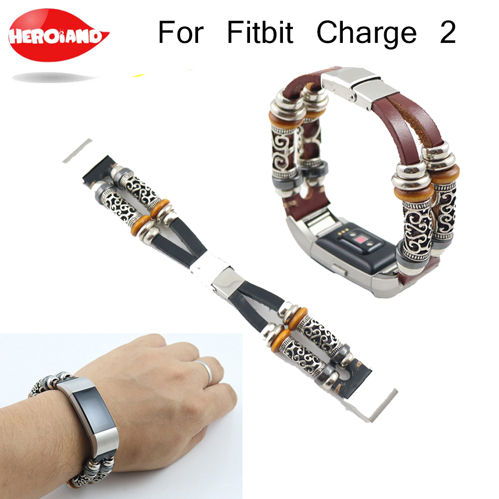 High Quality Leather Strap For Fitbit Charge 2 Band Smart Bracelet Replacement Watchband Bracelet For Fitbit Charge 2 Drop shipp