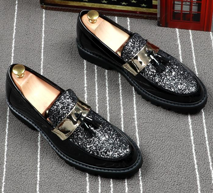 Plat Occasionnel Noir Adulte Confortables En Verni Mâle Chaussures Brillant Hommes Mode Pour Doux Nouvelle Respirant Cuir ON0wmnyv8