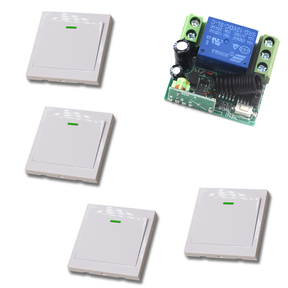 Smart Home DC12V Mini Single Channel RF Wireless Remote Control Switch 315mhz/433mhz Learning Code In Stock