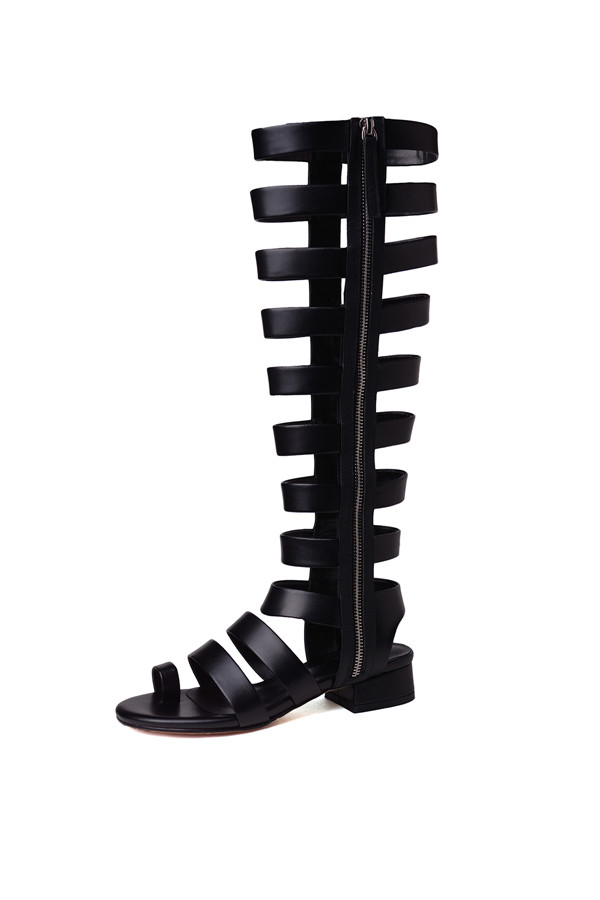 080aeece0c Prova Perfetto New Punk Style Sandals Woman Narrow Band Flip Flop Gladiator  Sandals Women Real Leather Mid Heels Ladies Sandals