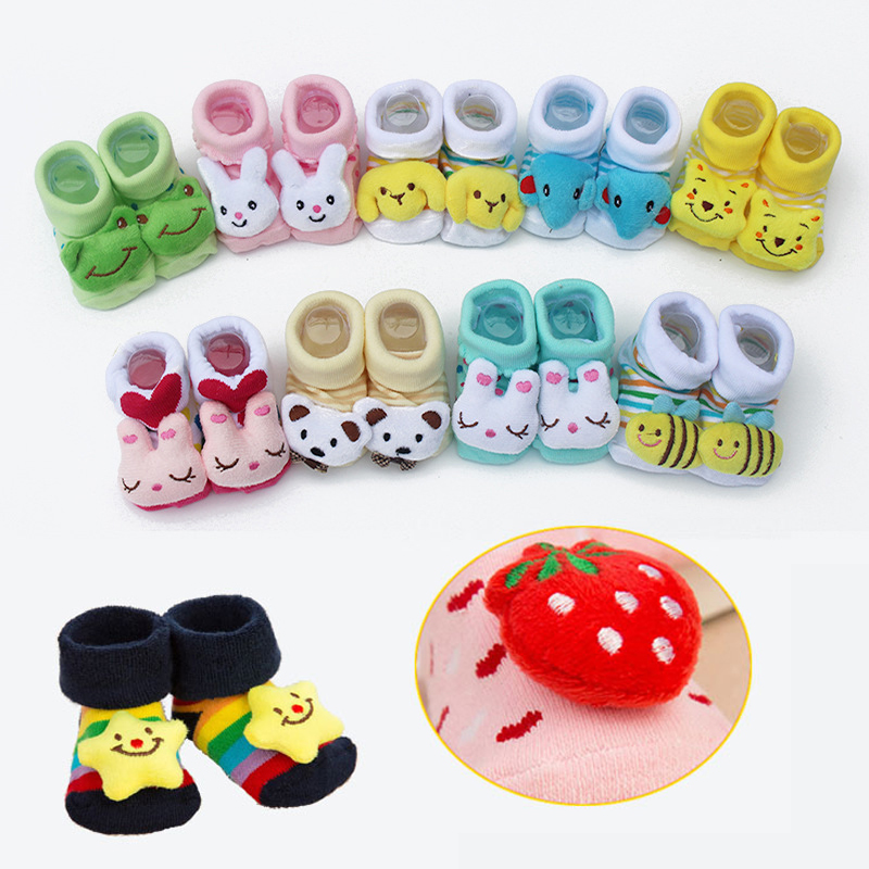 Baby Socks For Newborn Baby Sock Shoes Cotton Anti Slip Floor Socks With Rubber Soles For Kids Baby Boy Girl Infant Bebe Sock
