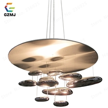 GZMJ, luces colgantes móviles modernas de mercurio, lámpara colgante de plata de 110 240 V, bombillas LED para decorar el hogar, lámpara colgante para salón