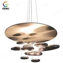 GZMJ nowoczesne mobilne lampy wiszące Mercury 110 240V srebrne lampy wiszące żarówki LED Home udekoruj Hanglamp dla Parlor lampa wisząca