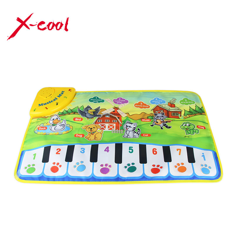 37x60cm Baby Musical Carpet Children Play Mat Baby Piano