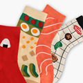 Japan Style Vintage Food Patterned Women <font><b>Socks</b></font> Funny Salmon & Sushi Casual Cotton Art <font><b>Socks</b></font> Creative Customized Harajuku Sox