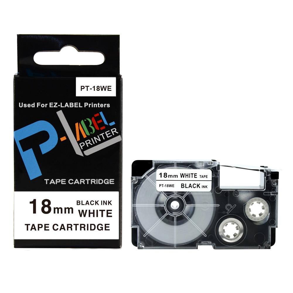 10PCS Cheap label printer tape 18mm black on white compatible for Casio EZ label tape XR