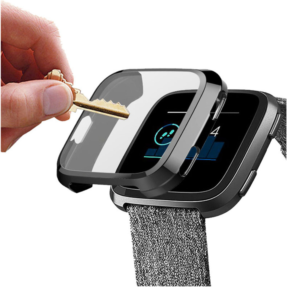 LNOP Case Cover For Fitbit Versa 2/versalite Strap Band Screen Protector Silicone Case All-inclusive Soft Frame Watch Accessory
